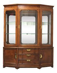 thomasville glass kitchen cabinets vintage used thomasville china and display cabinets chairish