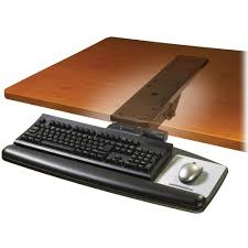 office desk with adjustable keyboard tray 3m akt90le adjustable keyboard tray with easy adjust arm akt90le