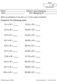 primaryleap co uk multiply by 10 worksheet
