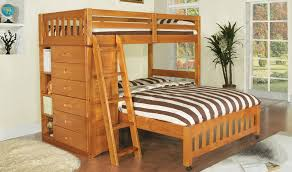 Wood Bunk Bed With Futon Wood Bunk Beds Twin Over Queen Different Picture With Excellent
