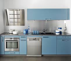 cuisine bleu ciel cuisine equipee blanc laquee 12 les cuisines tout en couleur quel