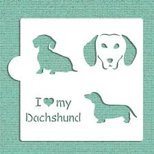 i my dachshund cookie and craft stencil
