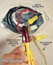 Replacing A Ceiling Light Fixture How To Hang A Ceiling Light Fixture Family Handyman