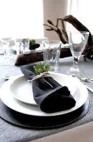 black and white table settings festive christmas table setting
