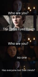 Arya Meme - game of thrones season 7 funny humour meme sansa stark arya stark