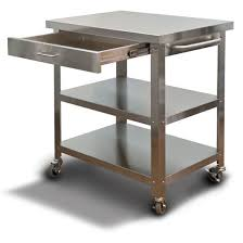 stainless steel kitchen island cart stainless cart on wheels kitchen islands danver commercial