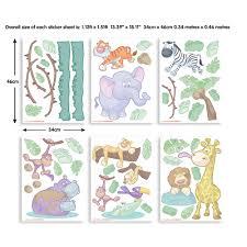 walltastic green dinosaur wall stickers wt45026 the home depot multi color baby jungle safari wall stickers