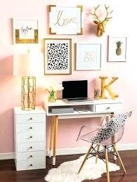 Pink Desk Accessories Set Gold Desk Accessories Upsite Me