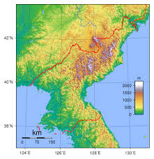 Topographic Map Of The World by Maps Of North Korea Dprk Detailed Map Of North Korea In