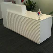 Contemporary Reception Desks Contemporary Reception Desk Geometric Shapes Small Modern