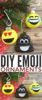 diy emoji ornaments frugal eh