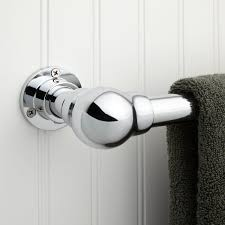 art deco towel bar bathroom