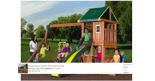 backyard discovery cedar wooden swing set only 25 00 u2013 insane