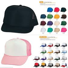 2 dozen plain two tone summer foam mesh trucker hats hat caps