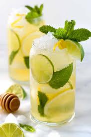 iced green tea with lime lemon u0026 honey jessica gavin