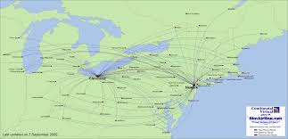Copa Airlines Route Map by Continental Virtual Destinations