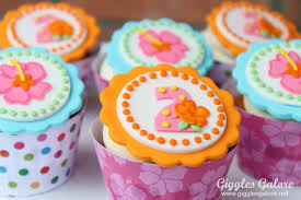 Tropical Themed Cake - luau birthday party