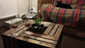 crate coffee tables wooden crate coffee table taidgh com