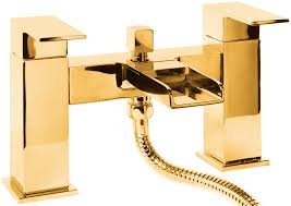 dorato unico bath shower mixer tap in 24ct gold