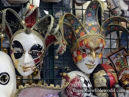 venetian mask for sale traveling in venice