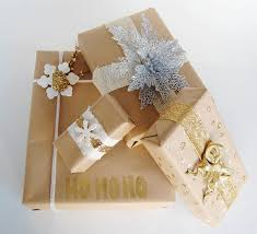 gold gift wrap 18 brown paper christmas gift wrapping ideas stayglam