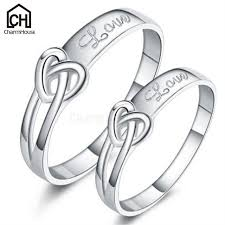 Anniversary Gifts For Men Engagement - silver wedding rings set for women men fashion bridal jewelry