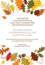 the plenty free thanksgiving invitation template
