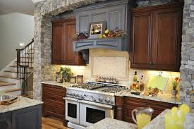Mixed Wood Kitchen Cabinets Endearing Gray Cream Color Mosaic Pattern Ceramics Tiles
