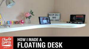 how to build a floating desk how to make a floating desk youtube