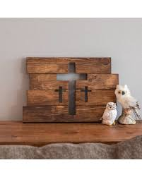 wooden crosses amazing deal on wooden cross wall decor three crosses decor home