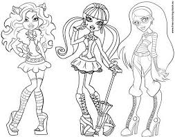 monster high clawdeen wolf coloring pages 16 monster high pictures to print and color last updated april
