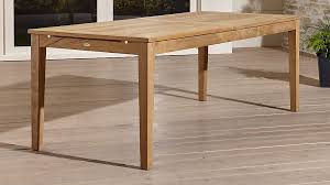 teak patio table with leaf regatta outdoor extension dining table reviews crate and barrel