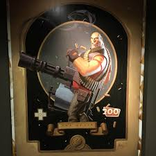 cool heavy painting at valve hq tf2