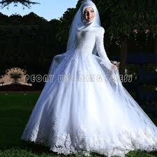wedding dress muslim online shop beautiful white beaded lace muslim wedding dresses