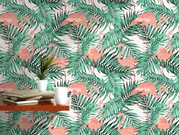 palm leaves removable wallpaper exotic peel and stick jungle