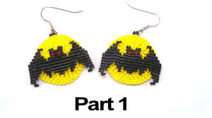 beading4perfectionists halloween full moon bat earrings beading