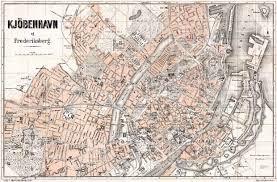map of copenhagen historical map prints of copenhagen københavn in denmark for
