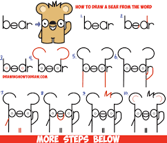how to draw a cute teddy bear step by step easy