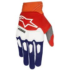 alpinestars motocross gloves 2018 alpinestars racefend gloves blue orange white sixstar racing