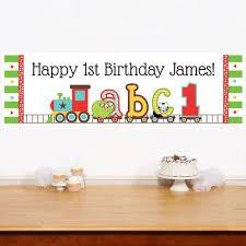 abc 1st birthday personalized centerpiece