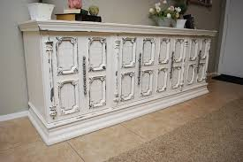 white and grey distressed buffet fave projects repost classy