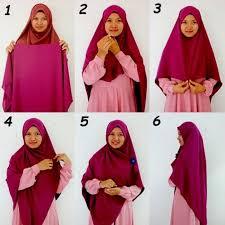 tutorial hijab syar i untuk pernikahan jilbab syar i model terbaru hijab style 6