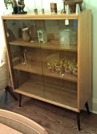 display cabinet glass sliding doors cool stuff gallery blond vintage mid century book shelf cabinet