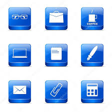 jeu de travail au bureau jeu d icônes de bureau travail image vectorielle rizwanali3d