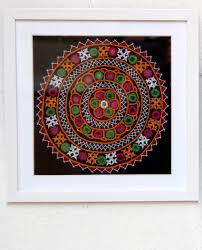 home decor frames with peach embroidered cloth rangpitaara