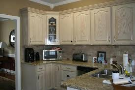 White Wash Kitchen Cabinets Refinish White Washed Oak Kitchen Cabinets