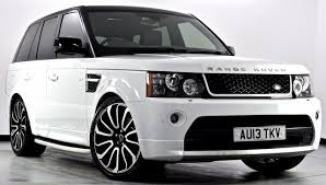 land rover white black rims 2013 land rover range rover sport sdv6 hse black