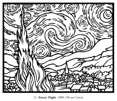 starry night coloring page 11049