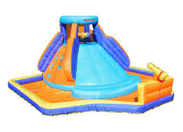 amazon com sportspower battle ridge inflatable water slide toys