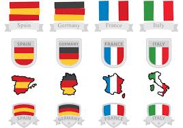Italian And Mexican Flag Italian Flag Badge Vectors Download Free Vector Art Stock